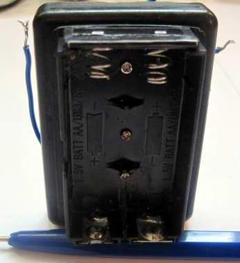 переделанный батарейный отсек для зарядного устройства