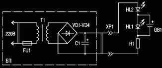 Схема блока питания для зарядки аккумуляторных батарей АА